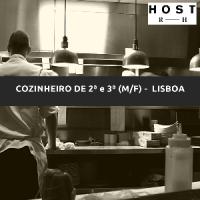 COZINHEIRO (M/F) DE 2ª E 3ª - LISBOA