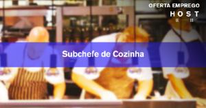 Subchefe de Cozinha - Évora